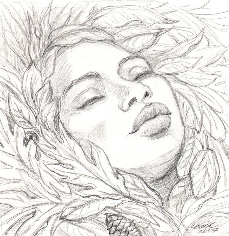 Autumnal Slumber ORIGINAL Drawing