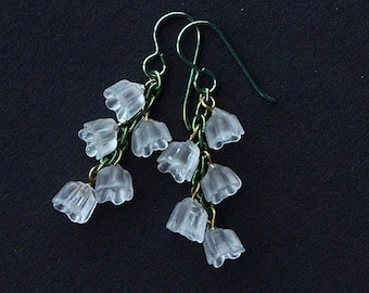 lily of the valley earrings, lily of the valley, lily of the valley flowers, LILY of the VALLEY, hypoallergenic niobium earwires