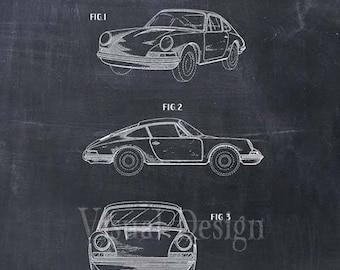 Porsche 911 Carrera Patent Print - Porsche Patent Art Print - Car - Auto - Automobile