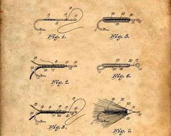 Fly Fishing Patent Print Fly Fishing Art Print