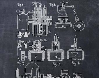 Diesel Engine Patent Print Diesel Engine Art Print