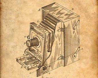 Camera Patent Print Camera Art Print