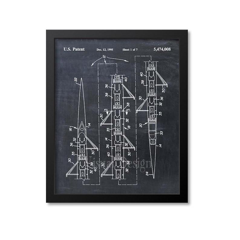 8 Man Rowing S Scull Patent Print Patent Art Print | Etsy
