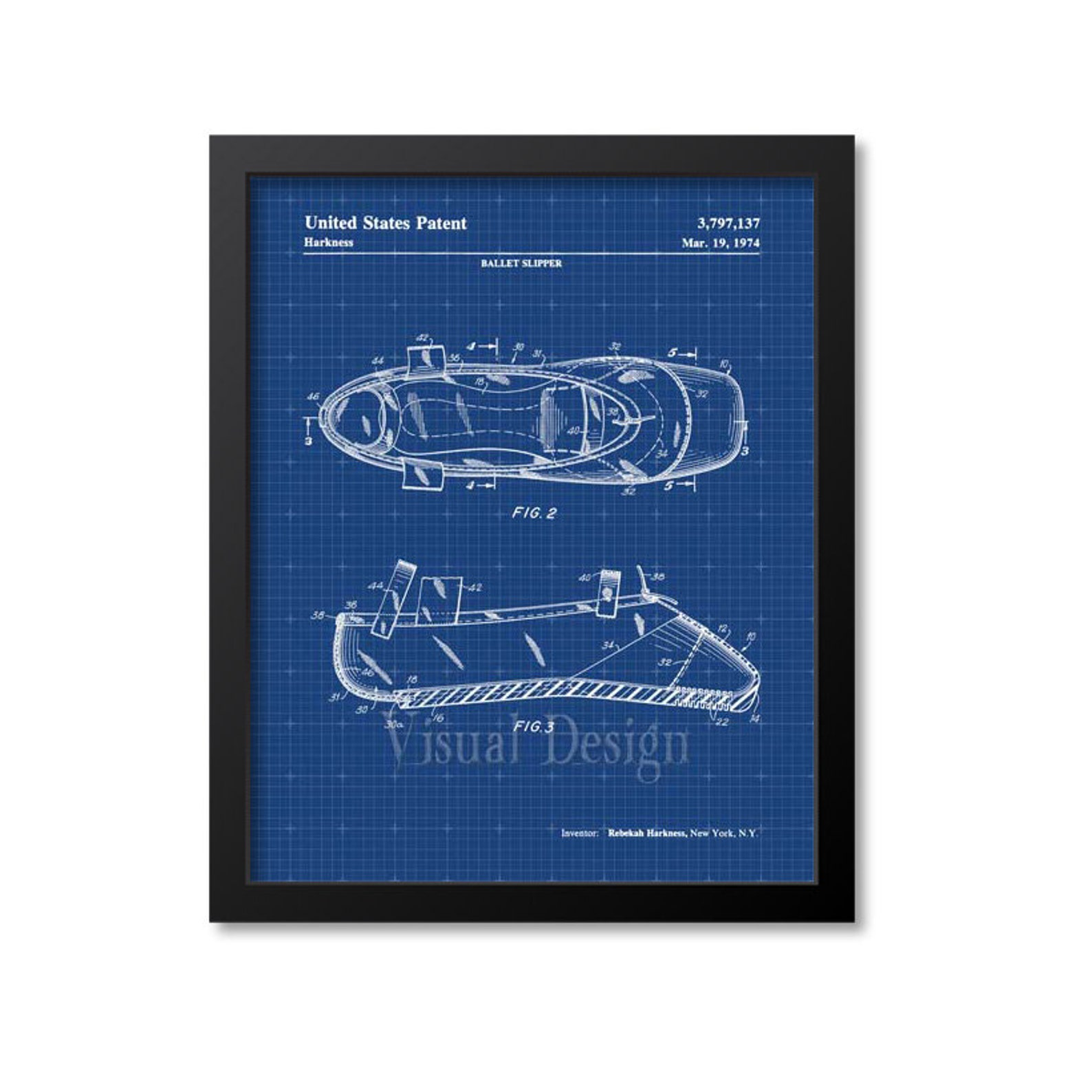 ballet shoe patent print, ballet patent art, ballet poster, ballerina art, dance art print, dancer gift