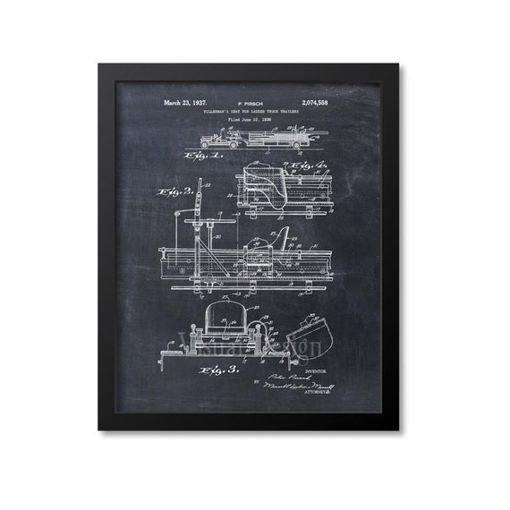 fire truck patent print fire truck tillermans seat patent art etsy rh etsy com 2000 Audi S4 Parts Diagram Fire Truck Water System Diagrams