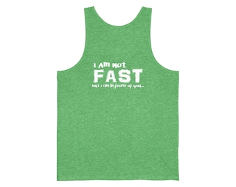 Not Fast White Unisex Jersey Tank
