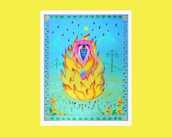 Tyr Art Print, Midsommar Inspired Artwork