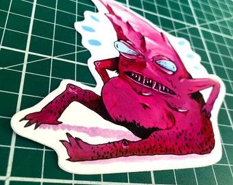 Mountain Vinyl Sticker, Monster Illustration, Unusual, Surreal, Original Design
