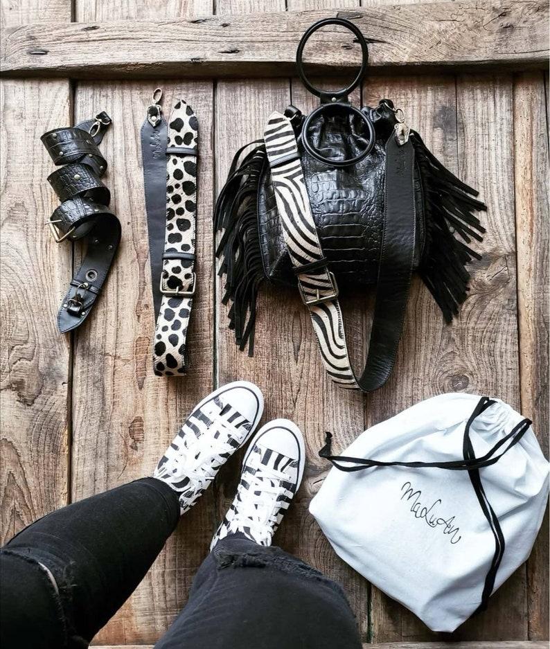 Black croc croc Eva handbag image 0