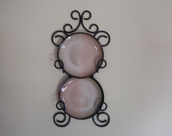Wrought iron wall plate holder   Etsy