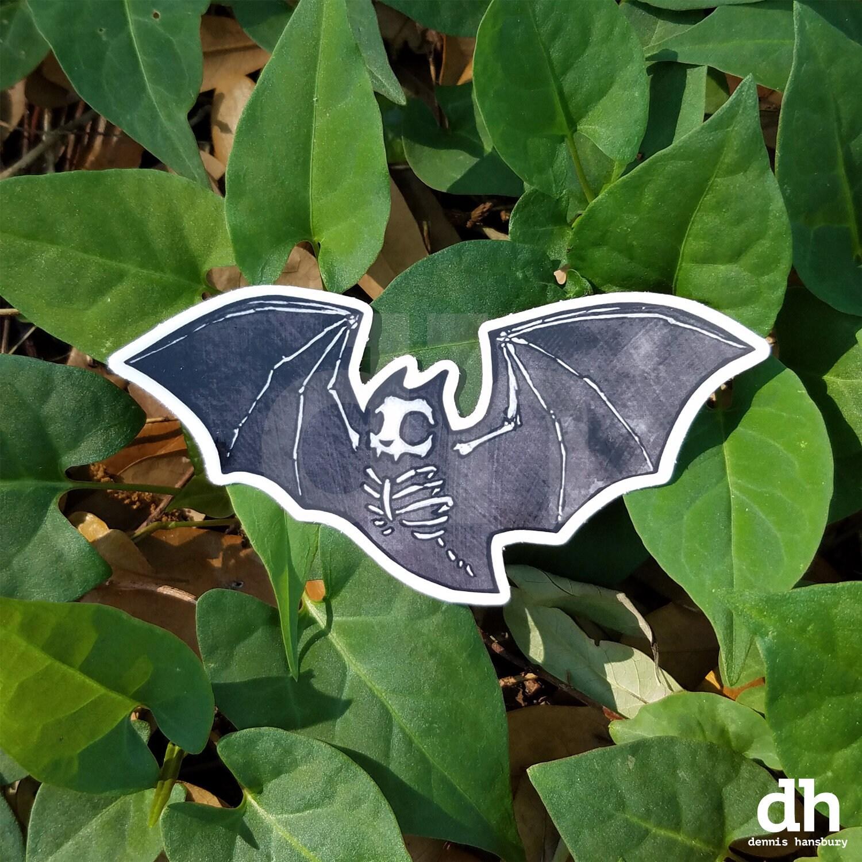 Skele Bat Vinyl Sticker Bat Laptop Sticker Cute Bat Die Etsy