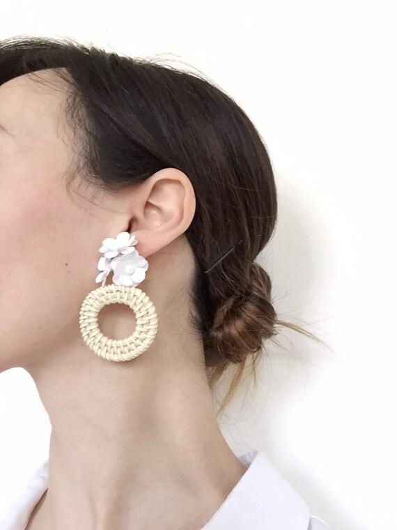 smiley flower earrings,floral earrings,body positivity earrings BLOOM