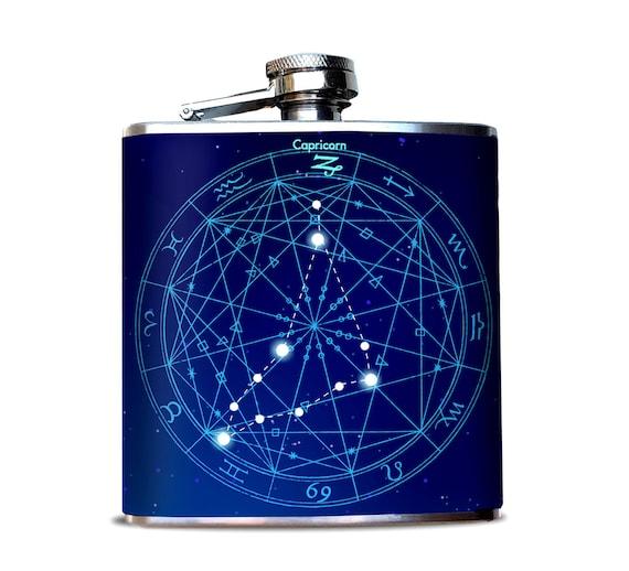 Capricorn Star Chart Flask December Birthday In