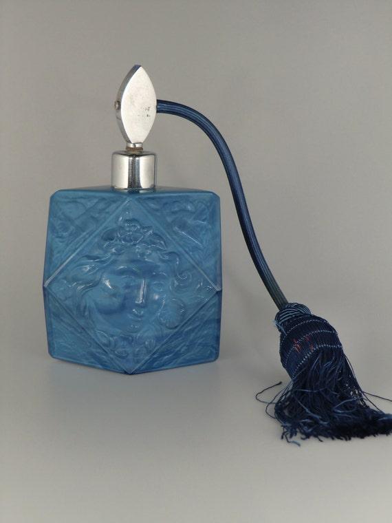 Bohemian Czech Art Nouveau Opaque Blue