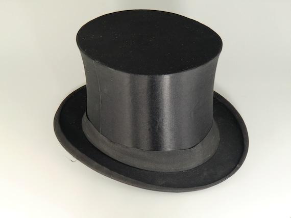 0ce9fdfe857d Chapeau Claque Hat Black Folding Cylinder Flaps Hat Folding   Etsy