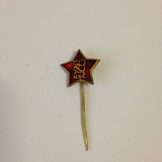 1971 Czechoslovakia Communist Party KSC 50th Anniversary Political Pin Badge