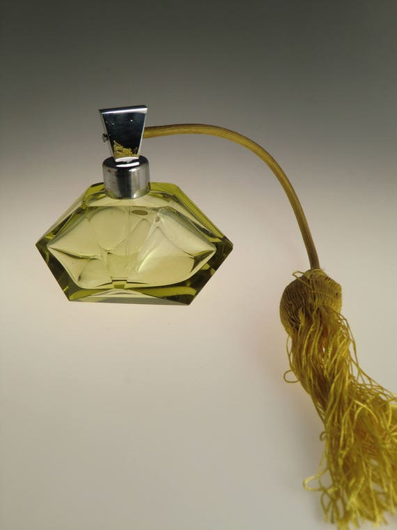 Bohemian Czech Art Deco Glass Perfume
