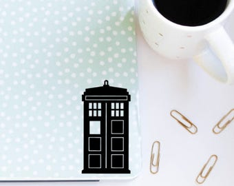 Doctor Who Tardis Vinyl Computer Car Decal Sticker