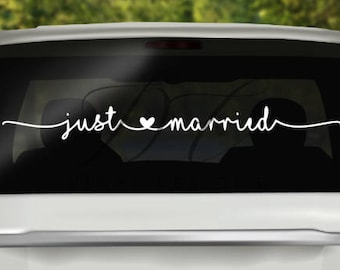Just Married Car Decal Wedding Gift Engagement Gift I do Getting Married