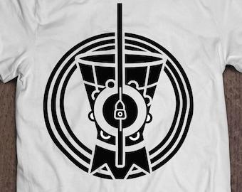 TRIBAL CAPOEIRA SHIRT: Capoeira / Brazil/ Afro Brazilian/ Made In Detroit / Berimbau T-shirt / Dobrao / Pandero / Bimba