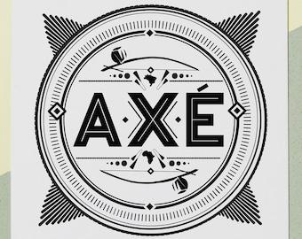 AXE Capoeira Print / Brazil / Capoeira Africa / Capo / Dobrao / Beriambau