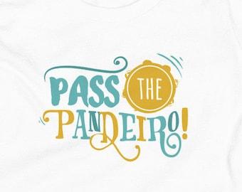 Pass the Pandeiro Colored Shirt / Kids Capoeira Shirt / Capoeira / Brazil / Africa