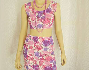 Floral Print Mini Skirt Set