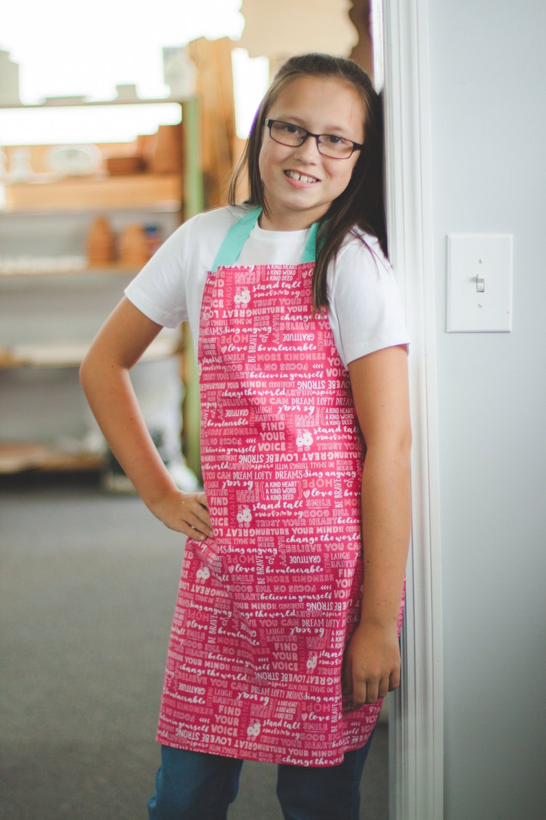 7f2d421e52b Empowering Art Kitchen or Craft Apron Gift for Tween Teen Girl