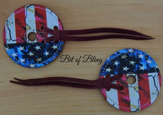 American Flag Leather Bit Guards, Leather Bit Guards, Bit Guards, Horse Tack, Rodeo, Barrel Racing, Pole Bending, Trail Riding, Western