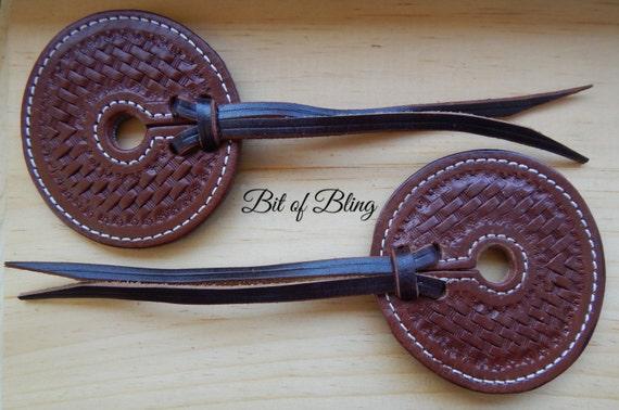 Basket Tooled Leather Bit Guards, Tooled Leather Bit Guards, Leather Bit Guards, Bit Guards, Horse Tack, Leather Horse Tack, Western, Tack