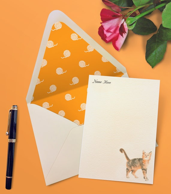 Fun Notes Set of 6 Animal Coat Notecards with Envelopes