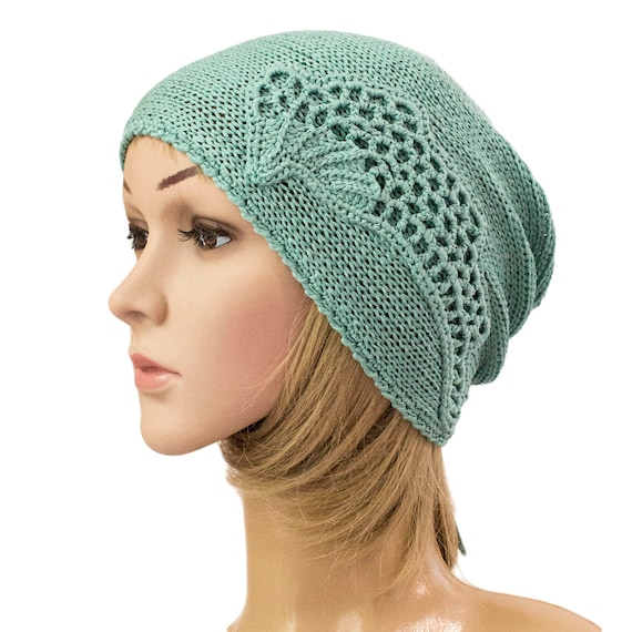 official store nice shoes clearance prices Summer beanie hat, Summer hats women,turquoise knitted summer hat