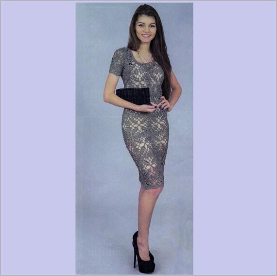 Crochet dress pattern plus size womens dress