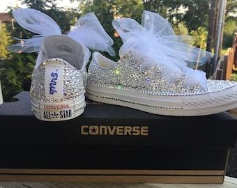 91ee822ad761 Swarovski Crystal Converse