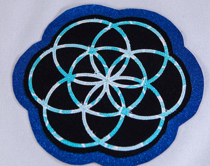 Flower of Life Layered Patch, Sew-On