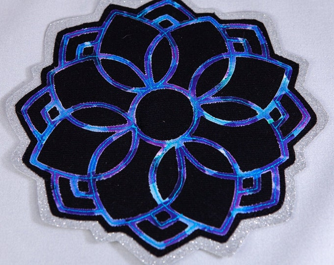 Flower Mandala Layered Patch, Sew-On