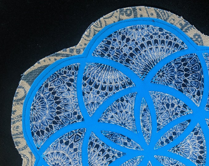 Extra Large Flower of Life Layered Patch, Sew-On