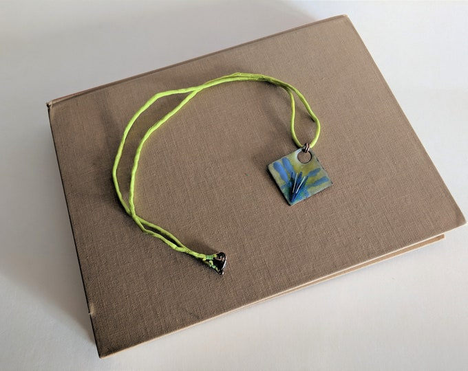 Growth in Boundaries Enameled Necklace