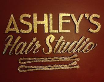 Foam Letters Hair Salon Decor