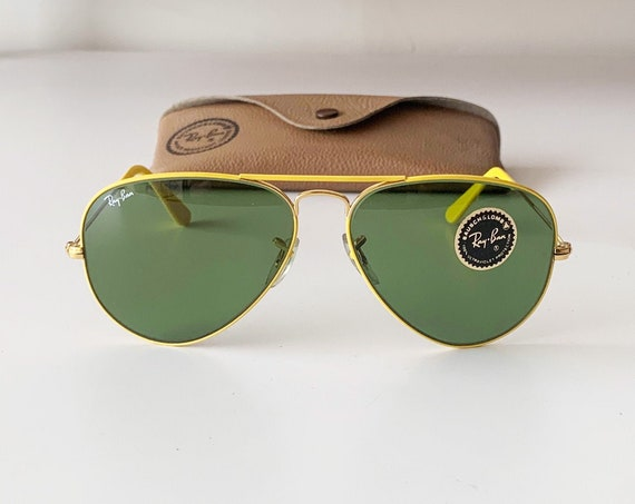 Rare B&L RAYBAN Yellow flying colors Sunglasses