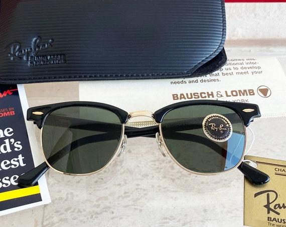 Vintage B&L RAY-BAN W0365 Clubmaster Ebony Sunglasses