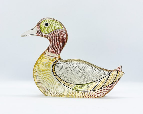 Vintage Op Art Abraham PALATNIK Duck Lucite Sculpture Signed - Made in Brazil 60s