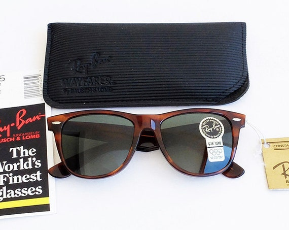 Vintage B&L RAY-BAN Wayfarer II L1725 G-15 Tortoise 54mm Sunglasses