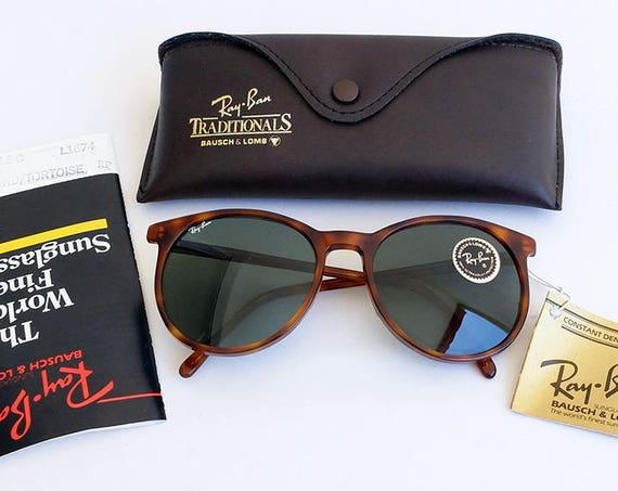 Vintage B&L RAY-BAN L1674 Style C Blond/Tortoise G-15 Sunglasses USA