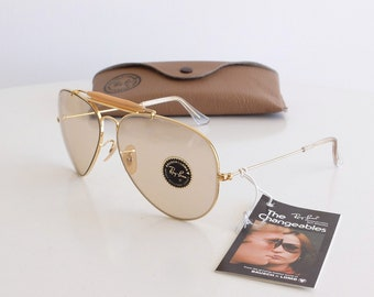22c0af488e Vintage NOS B L RAY-BAN Outdoorsman Changeable Brown 62mm Sunglasses