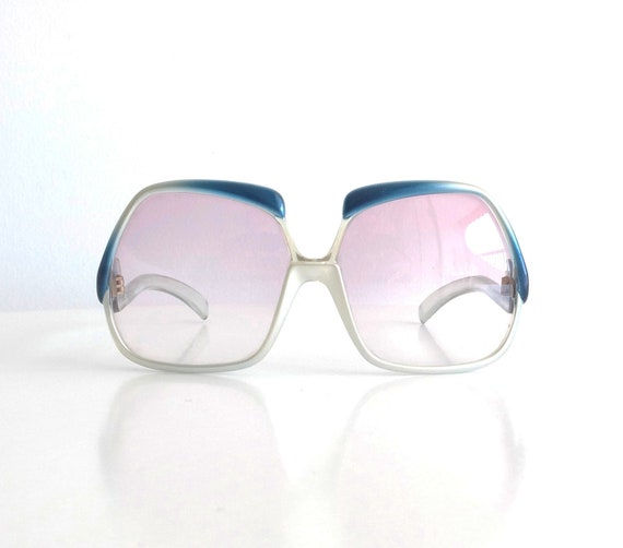 Vintage 70s YVES SAINT LAURENT Oversize Sunglasses Made in France