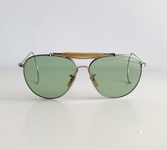 WWII US Army Air force Bausch & Lomb Aviator Sunglasses