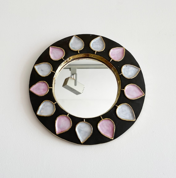 50s Ceramic Mirror by Mithé ESPELT