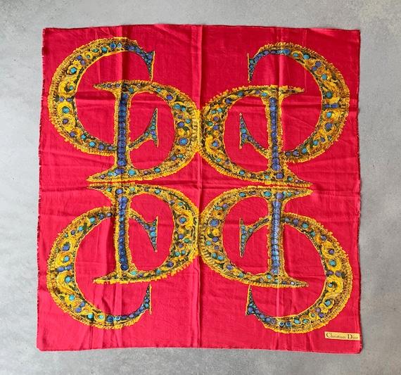 Vintage CD Christian DIOR silk scarf