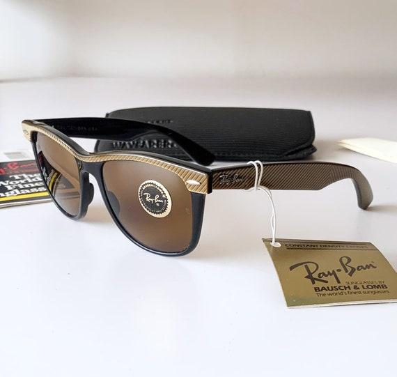 Vintage 80s B&L RAY-BAN Wayfarer II W0495 54mm Sunglasses